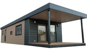 Mobilheim / Chalet mit Terrasse
